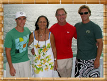 Stormy, Bev, Drex and Collin: The Tiki XIV Family